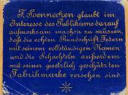 Antike Schreibfederschachtel, F. Soennecken, No. 30, Rundschrift-Doppel-Feder, Bonn, Rückseite