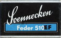 Antike Schreibfederschachtel, F. Soennecken, No. 510 EF