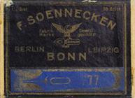 Antike Schachtel mit linksgeschrägten Kalligraphie Schreibfedern, F. Soennecken, No. 777