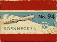 Antike Schreibfederschachtel, F. Soennecken, No. 94