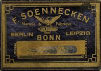 Antike Schreibfederschachtel, F. Soennecken, No. 95
