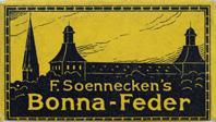 F. Soennecken, Schreibfeder-Schachtel Bonna-Feder EF, Gelb