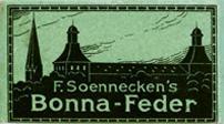 F. Soennecken, Schreibfeder-Schachtel Bonna-Feder F, Grün