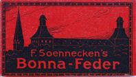 F. Soennecken, Schreibfeder-Schachtel Bonna-Feder M, Rot