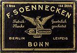 Antike Schreibfeder-Schachtel, F. Soennecken, Breitfeder, Berlin-Leizpzig