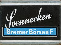 Antike Schreibfederschachtel, F. Soennecken, Bremer Börsenfeder