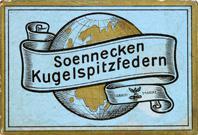 Antike Schreibfederschachtel, F. Soennecken, Kugelspitzfeder No. 516 EF