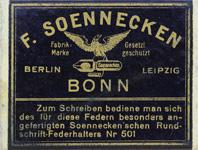 Antike Schreibfeder-Schachtel, F. Soennecken, Breitfeder