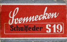 Antike Schreibfederschachtel, F. Soennecken, No. S 19, Schulfeder