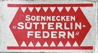 Antike Schreibfederschachtel, F. Soennecken, Schulfeder No. S 3, Pfannenfeder