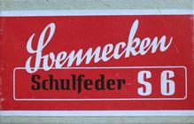 Antike Schreibfederschachtel, F. Soennecken, S 6, Es Sechs
