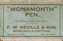 Antike Schreibfederschachtel, F. W. Neville & Son, Wonamonth Pen