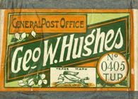 Antike Schreibfederschachtel, George W. Hughes, No. 405, General Post Office Pen