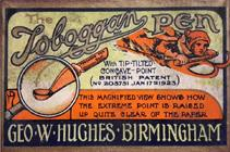 Antike Schreibfederschachtel, George W. Hughes, Toboggan Pen