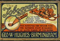 Antike Schreibfederschachtel, Geo. W. Hughes, No. 0409, Toboggan Pen