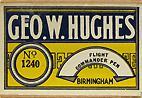 Antike Schreibfederschachtel, George W. Hughes, No. 1240, Flight Commander Pen