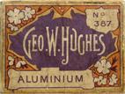 Antike Schreibfederschachtel, George W. Hughes, No. 387, Aluminium