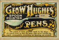 Antike Schreibfederschachtel, Geo. W. Hughes, No. 520, Spoon Point Series