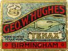 Antike Schreibfederschachtel, Geo. W. Hughes, No. 16 H EF, Tenax Series