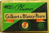 Antike Schreibfederschachtel, Gilbert & Blanzy-Poure, No. 319 bis, Plume Pygmee