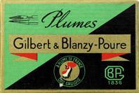 Schachtel mit Kalligraphie Spitzfedern, Gilbert & Blanzy-Poure, No. 29, Lance