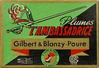 Antike Schreibfederschachtel, Gilbert & Blanzy-Poure, No. 707, L'Ambassadrice