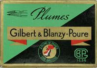 Antike Schreibfederschachtel, Gilbert & Blanzy-Poure, No. 730 EF, Plume Princesse