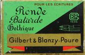 Antike Schreibfeder-Schachtel, Gilbert et Blanzy-Poure, No. 194, A la Ronde