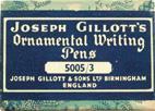 Antike Schreibfederschachtel, Joseph Gillott & Sons LTD, No. 5005, Ornamental Writing Pens