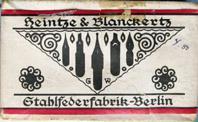 Antike Schreibfedern-Schachtel, Heintze & Blanckertz, No. 1191 F und EF, Pfannenfeder