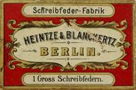 Schachtel mit Kalligraphie Spitzfedern, Heintze & Blanckertz, No. 1001 F