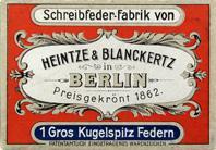 Antike Schreibfederschachtel, Heintze & Blanckertz, No. 1100 EF