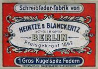 Antike Schreibfederschachtel, Heintze & Blanckertz, No. 1107 EF