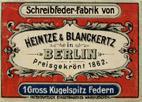Antike Schreibfederschachtel Motiv-2 Heintze & Blanckertz, No. 1135 EF
