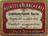 Antike Schreibfederschachtel, Heintze & Blanckertz, No. 1701
