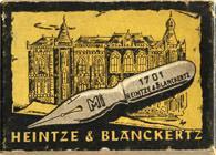 Antike Schreibfederschachtel, Heintze & Blanckertz, No. 1701 F, MI
