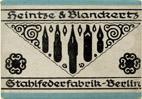 Antike Schreibfederschachtel, Heintze & Blanckertz, No. 171 EF