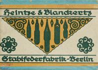 Antike Schachtel mit Kalligraphie Spitzfedern, Heintze & Blanckertz, No. 176 F