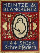 Antike Schreibfederschachtel, Heintze & Blanckertz, No. 182 EF
