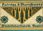 Antike Schreibfederschachtel, Heintze & Blanckertz, No. 218 EF