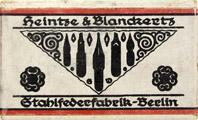 Antike Schreibfederschachtel, Heintze & Blanckertz, No. 408 EF, Cement