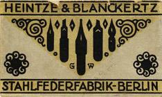 Antike Schreibfederschachtel, Heintze und Blanckertz, No. 600