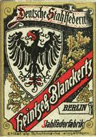 Antike Schreibfederschachtel, Heintze & Blanckertz, No. 85, TO