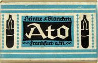 Antike Schreibfederschachtel, Heintze & Blanckertz, Ato-Federn, Frankfurt a.M.
