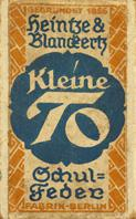 Antike Schreibfeder-Schachtel, Heintze & Blanckertz, No. 633 1/2, Kleine To