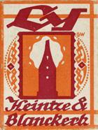 Antike Schachtel mit linksgeschrägten Kalligraphie Schreibfedern, Heintze & Blanckertz, No. ½8, Ly, Fabrik-Berlin
