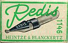 Antike Schreibfederschachtel, Heintze & Blanckertz, Redis 1146