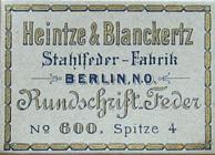 Antike Schreibfederschachtel, Heintze & Blanckertz, No. 600-4