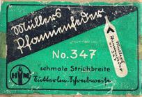 Antike Schreibfederschachtel, Hermann Müller, No. 347, Pfannenfeder