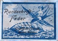 Antike Schreibfederschachtel, Hermann Müller, Rundschrift-Feder